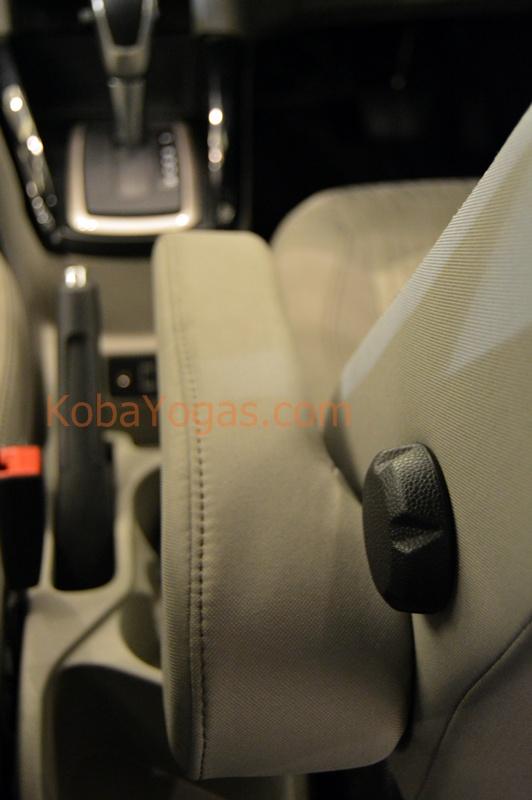 arm rest dan lumbar support pada driver