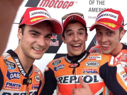 Tak ada podium bagi Marquez kali ini...Selamat pedrosa!!