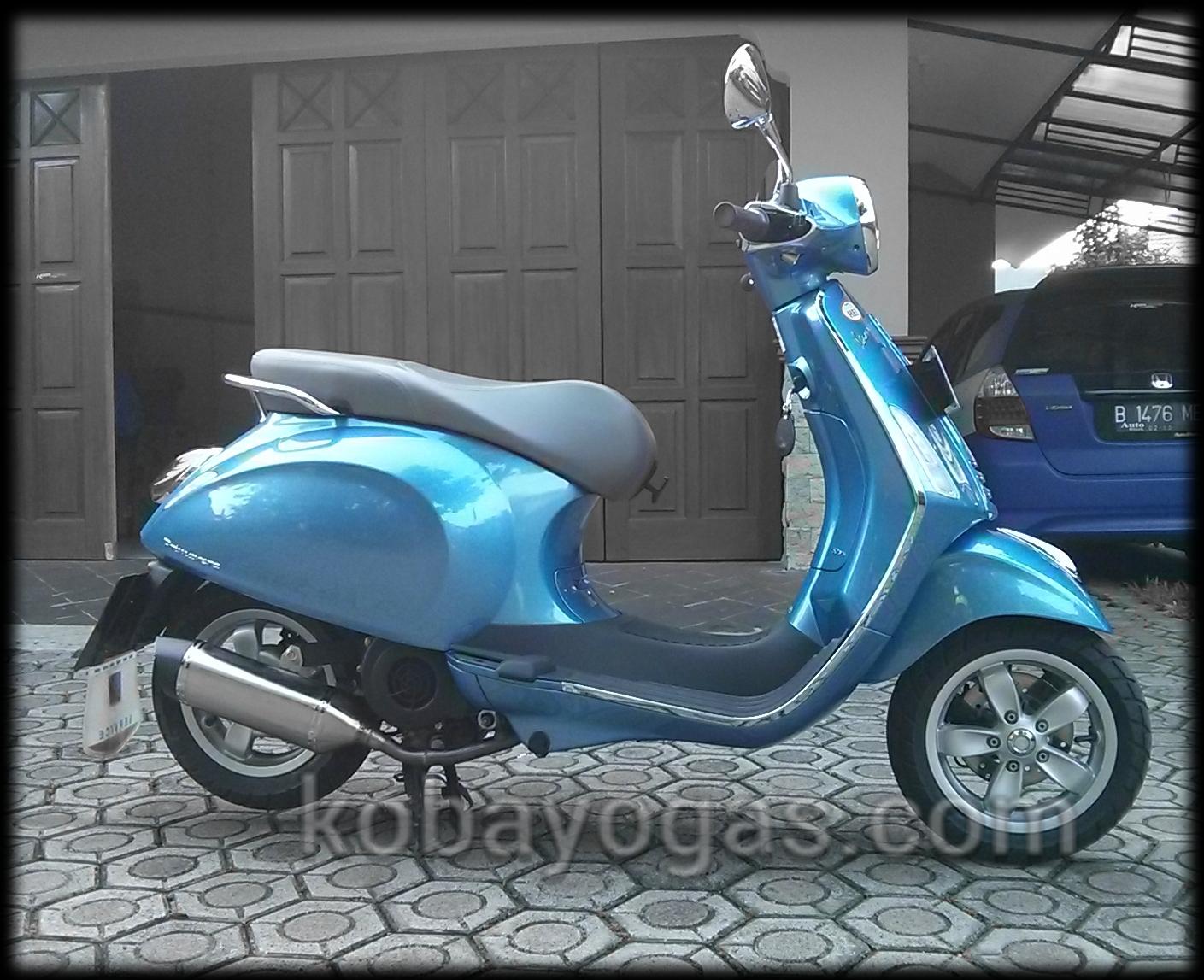 Modifikasi Sharing Exhaust Custom Vespa Primavera Made By Chuenk Malossi Piggyback Untuk Sprint