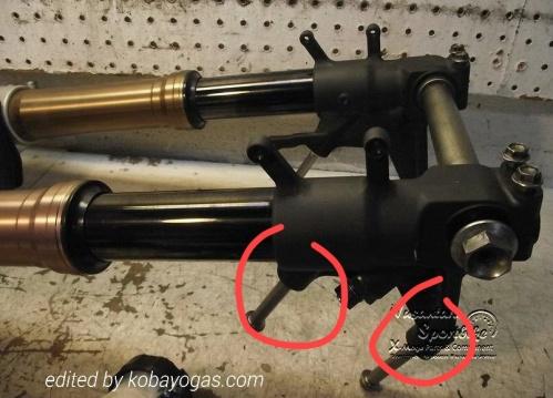 contoh shock dengan mounting Radial Caliper