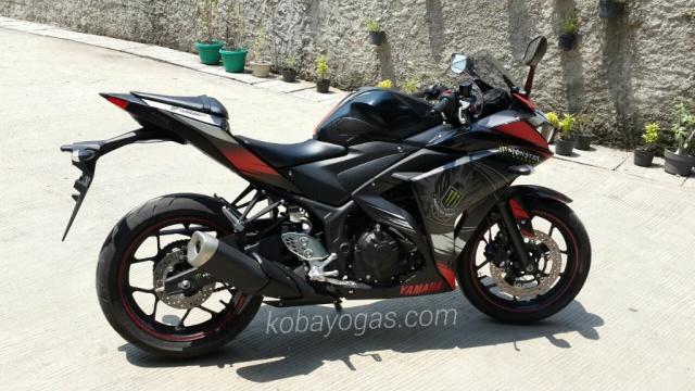 Yamaha R25 decal