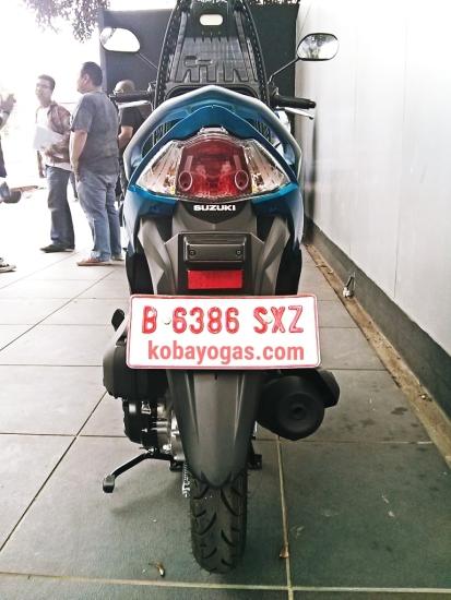Suzuki Address MotoGP belakang