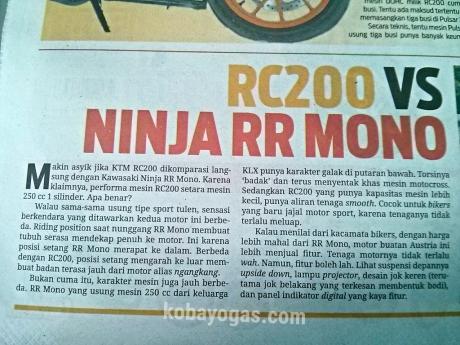 KTM vs RR Mono