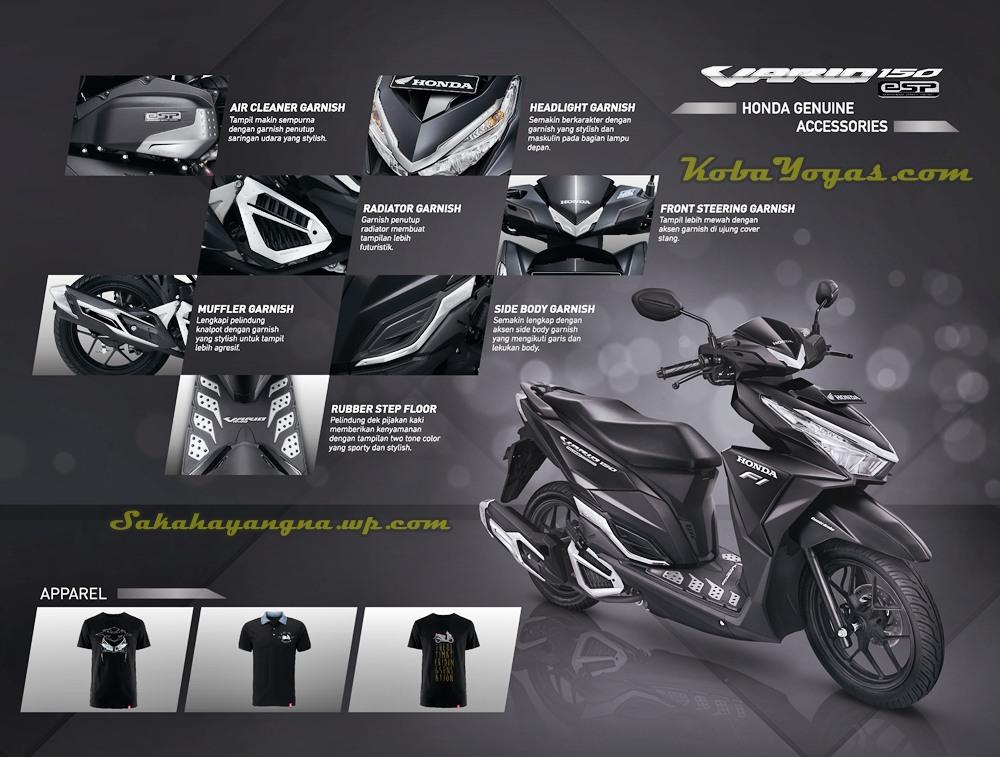 Honda New Vario 150 Harga Aksesoris Resminya Sudah Tersedia