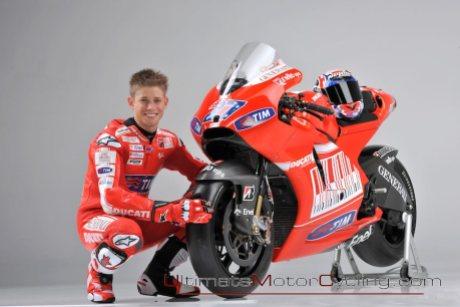 Stoner ketika berbaju Ducati