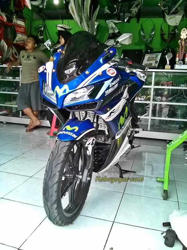 Modifikasi Yamaha New Vixion Lightning Jadi Yamaha R25 Bisa
