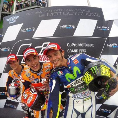 trio podium GP jerman