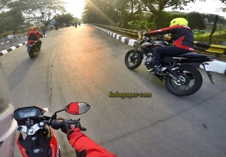 test ride New CB150 facelift