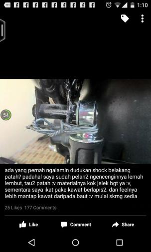 baut shock nmax patah