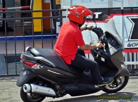 Suzuki Burgman Test Ride 14