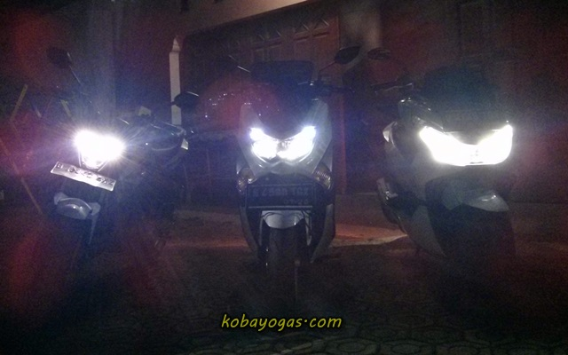 komparasi lampu New CB150R vs PCX vs NMax 4