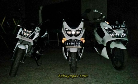 komparasi lampu New CB150R vs PCX vs NMax