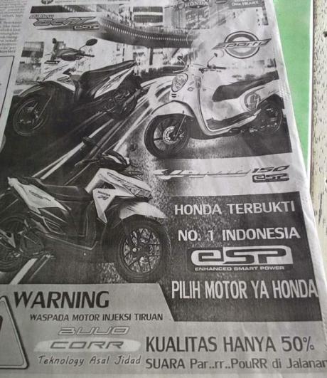 iklan norak skutik Honda