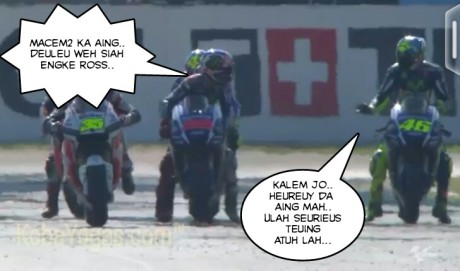 Rossi sukses memprovokasi Lorenzo...