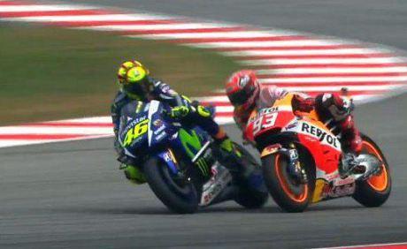 Rossi vs Marquez Sepang