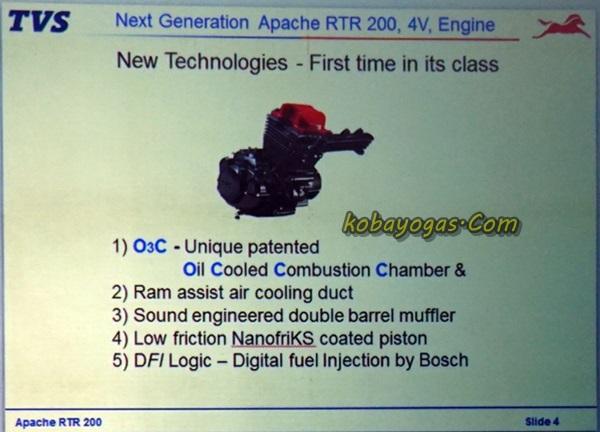 mesin New TVS Apache RTR200