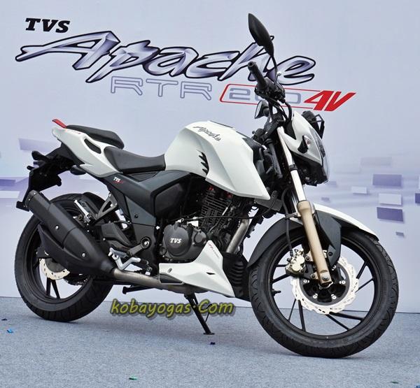 New TVS Apache RTR200 putih