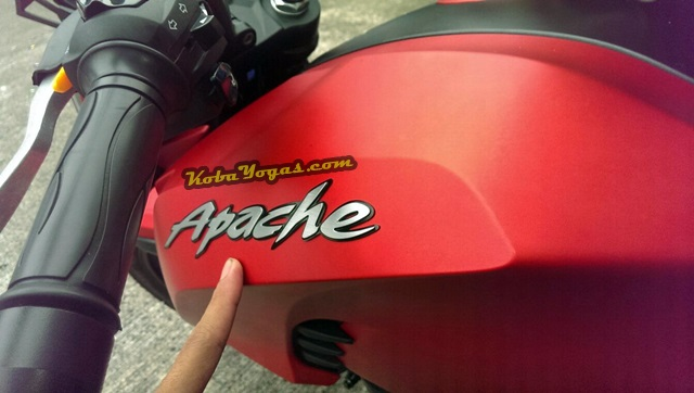 emblem Apache 3 dimensi timbul
