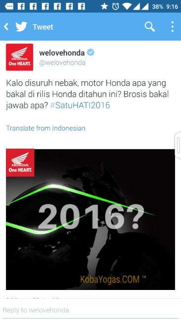 motor baru honda 2016