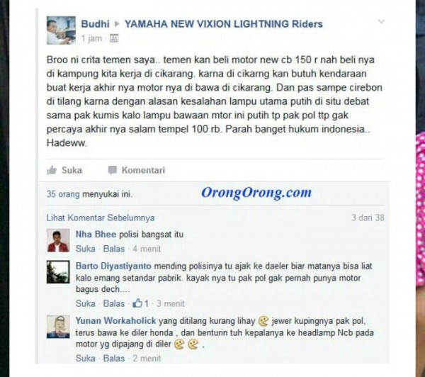 lampu led orisinal pabrikan kena tilang