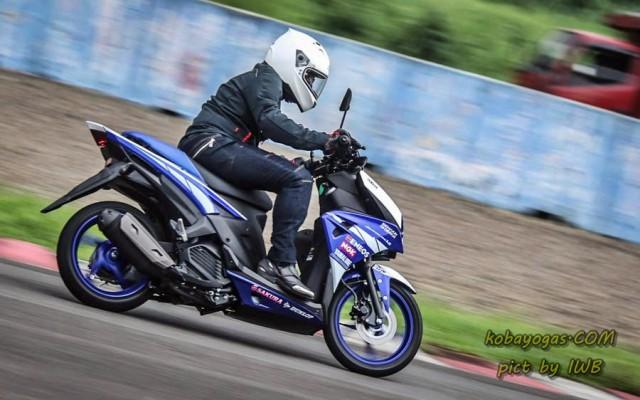 test ride yamaha aerox kobayogas 3
