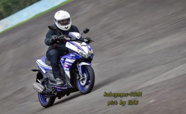 test ride yamaha aerox kobayogas