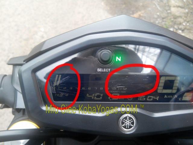 speedometer Yamaha Xabre kemasukan air