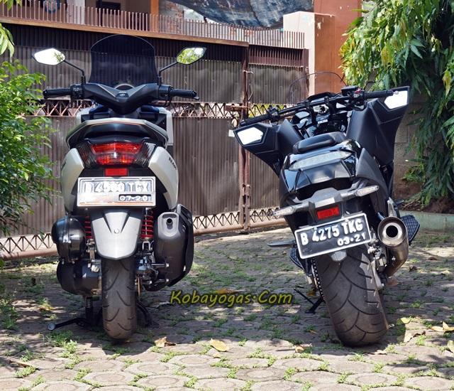 Honda vultus dan yamaha nm4x
