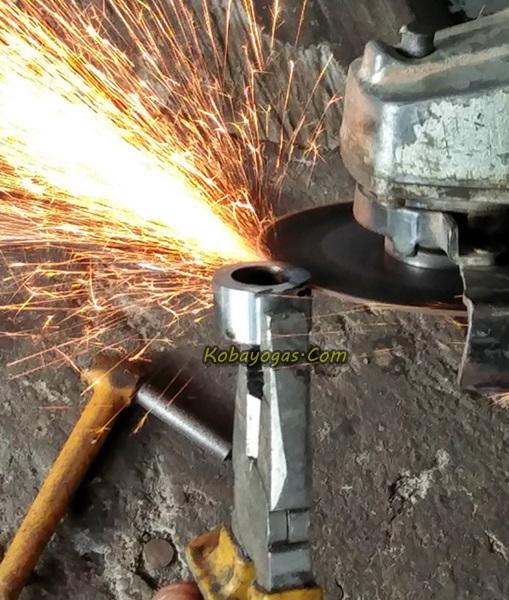 pembuatan ring untuk ganjal pulley