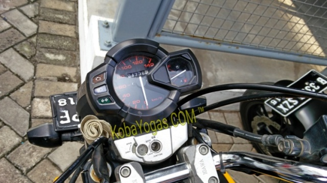 speedometer x-ride pasang di honda tiger